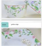 Ciotola stabilita del piatto della porcellana degli articoli per la tavola della porcellana delle coperture