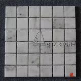 Mosaicos de mármol blanco de la estrella pulida para la pared y el piso