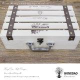 Rectángulo de madera popular de Hongdao, rectángulo de madera del vino para la venta caliente del regalo y _D