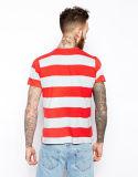 T-shirt fait sur commande de piste de coton du Mens 100 avec la poche