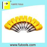 Herramientas que muelen espirales de la flauta recta del eje de rotación para el corte del cobre/del hierro