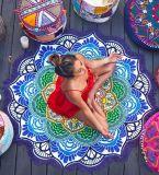 Ornamenti di seduta personalizzati di attaccatura di parete della stuoia di yoga delle stuoie di spiaggia del poliestere della spiaggia rotonda del tovagliolo