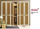 고품질 Morden 디자인 PVC 셔터 시리즈 옷장 미닫이 문 (yg-007)