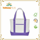 "14 "" Purpleの小型Small Cotton Canvas Party Favor Wedding Gift Tote Bag"