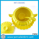 Migliore Gold Yellow Refractory Kitchen Art Ceramic Pots con Ladle