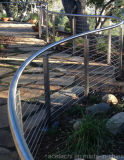 Панели Railing кабеля качества вертикальные с балюстрадой провода нержавеющей стали для балкона