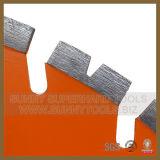El muro de cemento del diamante vio para el concreto reforzado del corte