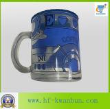 Copa de vidrio helado Taza de beber con calcomanía venta caliente Kb-Hn0730