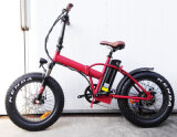 20 pollici che piegano bicicletta elettrica grassa con la cremagliera posteriore
