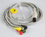 Cuidado Vue 50 5 cabo das ligações ECG com Leadwires