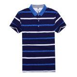 Dessus occasionnels en bonne santé de té de chemise de polo de classique court floral rayé de chemise de coton de Mecerized