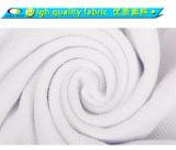Camicia di polo bianca mercerizzata doppio del cotone