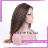 Peluca llena china caliente superventas del cordón del pelo humano de los productos