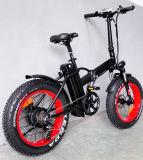 20 Zoll fettes elektrisches Fahrrad mit hinterer Zahnstange faltend