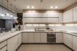現代的な食器棚の現代白い台所#0417