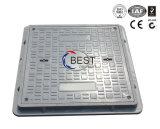 B125 einsteigeloch-Deckel-Gewichte des Quadrat-600*600*30mm SMC FRP GRP gelüftete Gummi