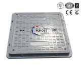 B125 Square 600 * 600mm SMC Frpvented Rubber Manhole Covers Weights