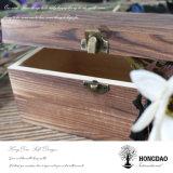 Hongdao hölzerner Foto-Album-Postkarte-Verpackungs-Geschenk-Kasten mit kundenspezifischem Futter _E