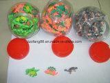 Multicolor Dinosaur and Smile et Apple Fancy Rubber Eraser