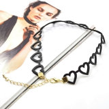 De zwarte Holle uit Halsband van de Nauwsluitende halsketting van het Leer van het Hart