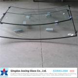 Cor curvado/folha/vidro isolado desobstruído para a porta de vidro/parede de cortina de vidro