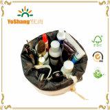 卸し売り安いキャンバスの装飾的な袋、女性の走行のドローストリングの化粧品袋