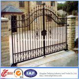 Puerta del patio de la fundición de aluminio de la puerta de jardín decorativa/del hierro labrado