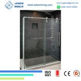 Balanço desobstruído que desliza a porta do chuveiro do vidro Tempered de Frameless