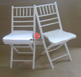 Folding de madeira Chiavari Chairs para Wedding