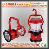 1W LEDの懐中電燈(SH-1972B)が付いている携帯用太陽8 SMD LEDライト