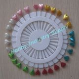 Pin de 55mm Star Teardrop Round Leaf Heart Decorative Pearl Head