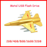 Movimentação do flash do USB do avião modelo do plano do metal do USB Thumbdrive