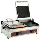 Doble eléctrica de placa intermedia Grill (arriba y abajo ranurado ranurado) SGT-622