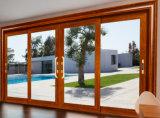 Zwei Spur-ausgeglichenes Glas-Aluminiumaußenschiebetüren