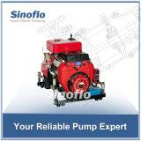24HP 휴대용 가솔린 엔진 Self-priming 화재 수도 펌프