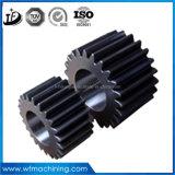 Engrenagem helicoidal OEM / roda espiral / roda cónica para transmissão forjando e usinagem