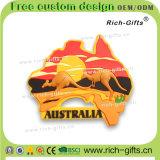 PVC冷却装置磁石はカスタマイズした記念品の昇進のギフト3Dのオーストラリア人(RC-AN)を