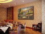 Картина маслом холстины искусствоа улицы Париж искусствоа стены гостиницы декоративная