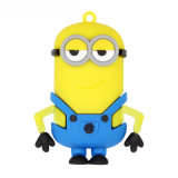 Small Yellow People USB Flash Drive PVC Customized Gift