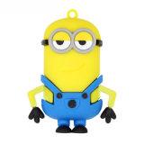 Piccolo regalo personalizzato PVC giallo dell'azionamento dell'istantaneo del USB della gente