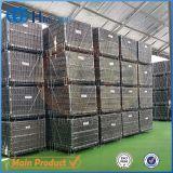 Entrepôt en métal de pieux pliable en treillis / cage avec feuille de PP