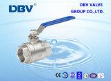 robinet à tournant sphérique de l'acier inoxydable 304 de l'amorçage 2PC