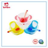 Cuvette d'aspiration avec la cuillère changeante de couleur pour le bébé alimentant
