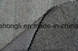 Il filato ha tinto il tessuto di T/R, genere spazzolato del tessuto, 63%Polyester 34%Rayon 3%Spandex, 255GSM
