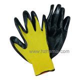 良質のニトリルの上塗を施してある維持手作業手袋