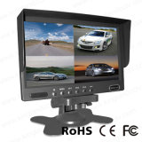 DC12V-24V 7inch Quad Rear View Car LCD Monitor