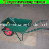 Carriola galvanizzata 100L australiana Wb8601 della riga della barra di rotella del cassetto del mercato