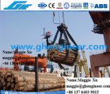 De Hydraulische Greep van het hout op de Vrachtwagen Opgezette Kraan of de Kraan van het Kruippakje