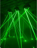 9eyes 거미 이동하는 헤드 RGB Laser 단계 디스코 빛