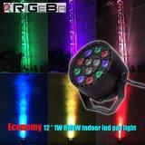 ディスコDJが12X1w RGBW LEDの同価をもたらすEuroliteの段階党はつくことができる